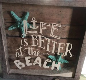 Life is Better at the Beach : Chalk Couture