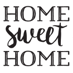 HOME SWEET HOME CHALK TRANSFER