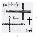 FAITH HOPE CHARITY CROSS CHALK TRANSFER