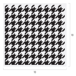HOUNDSTOOTH PATTERN CHALK TRANSFER
