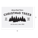CHRISTMAS TREE FARM CHALK TRANSFER