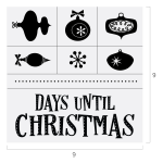 DAYS UNTIL CHRISTMAS CHALK TRANSFER