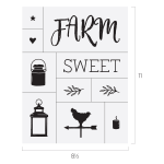 FARM SWEET FARM CHALK TRANSFER