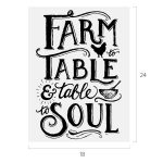 FARM TO TABLE CHALK TRANSFER