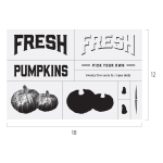FRESH PUMPKINS CHALK TRANSFER
