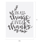 GIVE THANKS CHALK TRANSFER