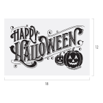 HAPPY HALLOWEEN CHALK TRANSFER
