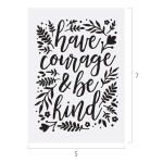 HAVE COURAGE CHALK TRANSFER