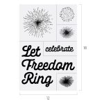 LET FREEDOM RING CHALK TRANSFER