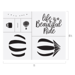 LIFE IS A BEAUTIFUL RIDE CHALK TRANSFER