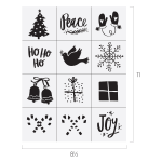 MINI HOLIDAY ICONS CHALK TRANSFER