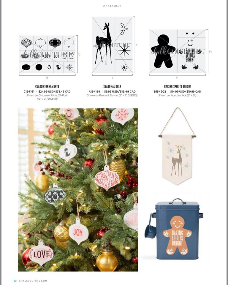 Chalk Couture Christmas Ornaments