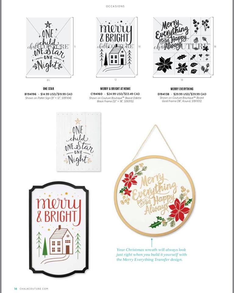Chalk Couture Merry & Bright