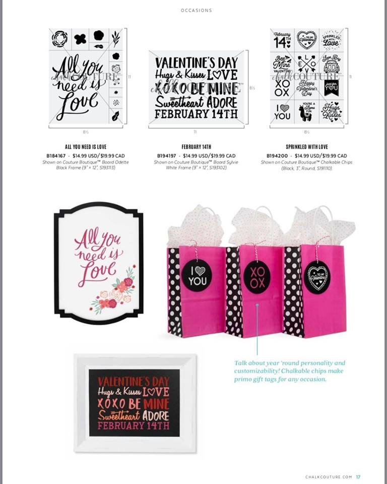 Chalk Couture Valentines Transfers