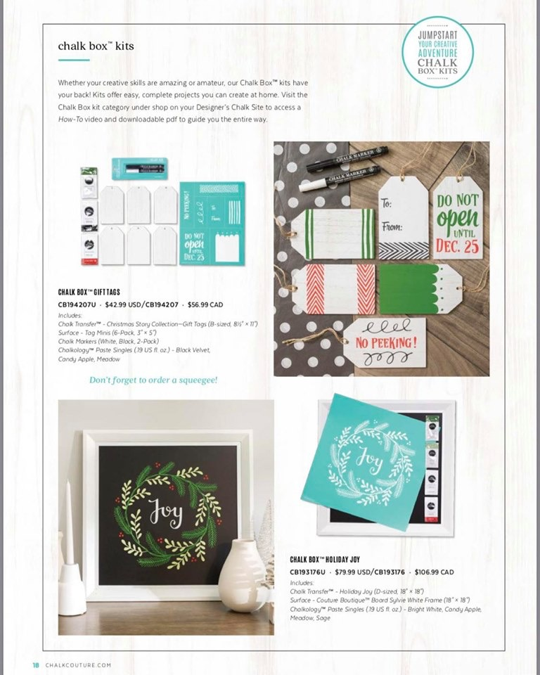 Chalk Couture Holiday Chalk Boxes