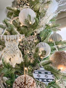 Boho Chalked Ornaments