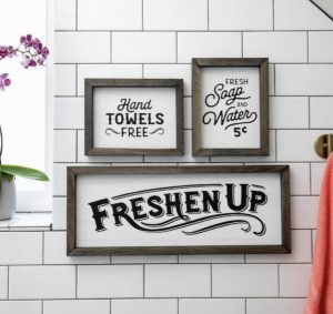 Freshen Up Bathroom Decor Transfer